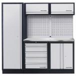 Móvel de Oficina de 3 elementos com Bancada em INOX