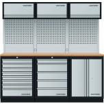 Móvel de Oficina com 9 módulos, bancada em INOX
