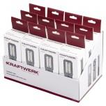 Expositor de balcão com lanterna LED COMPACT 500, recarregável, 12 pcs